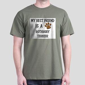 My best friend is a ROTHBURY TERRIER Dark T-Shirt