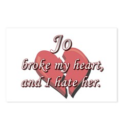 Jo broke my heart and I hate her Postcards (Packag