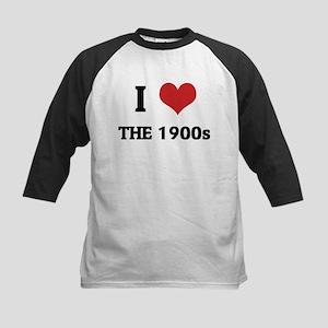 I Love The 1900s Kids Baseball Jersey