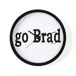 go Brad Wall Clock