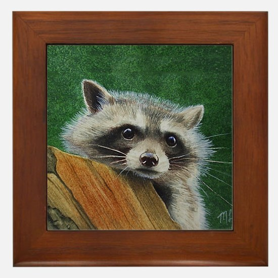 Raccoon Framed Tile