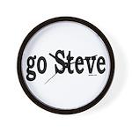 go Steve Wall Clock