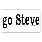 go Steve Rectangle Sticker