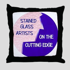 Cutting Edge Throw Pillow