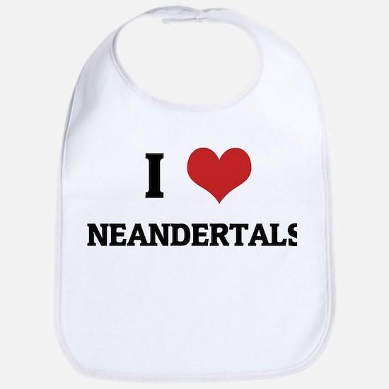 I Love Neandertals Bib