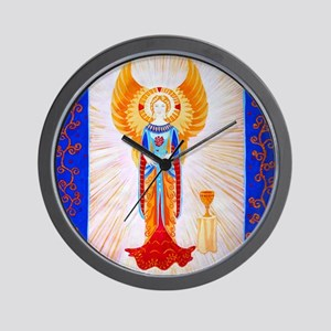 Angel With Rose Wall Clock