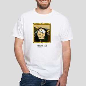 Moona Lisa White T-Shirt