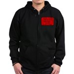 Black Miniature Schnauzer Zip Hoodie (dark)
