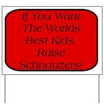 Black Miniature Schnauzer Yard Sign