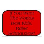 Black Miniature Schnauzer Postcards (Package of 8)
