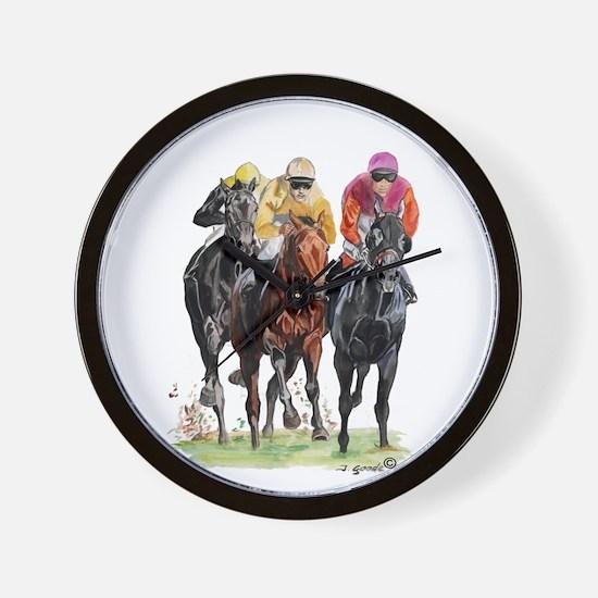 Cute Race horse Wall Clock