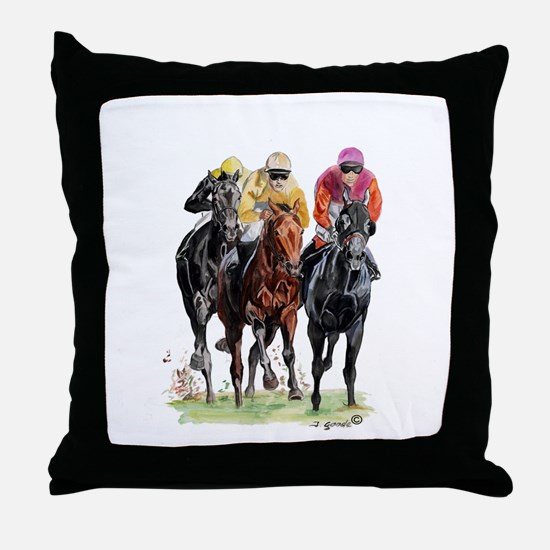 Cute Horse running Throw Pillow