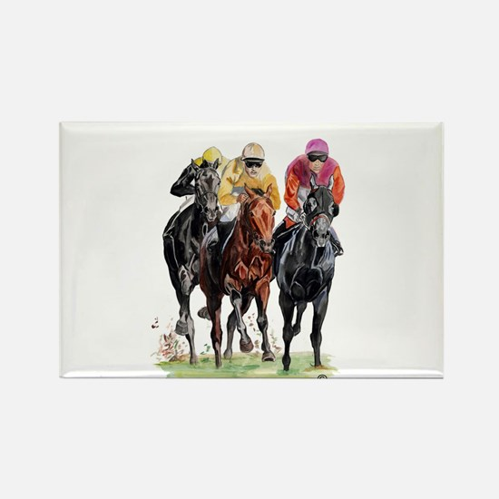 Unique Horse racing Rectangle Magnet