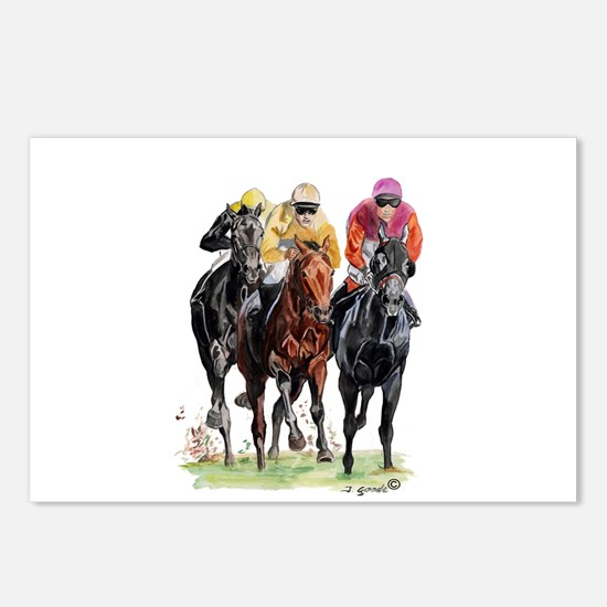 Cute Race horse Postcards (Package of 8)