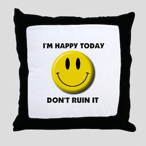 KEEP SMILING Throw Pillow