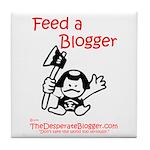 Feed a Blogger Tile Coaster