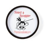 Feed a Blogger Wall Clock