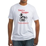 Feed a Blogger Fitted T-Shirt
