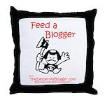 Feed a Blogger Throw Pillow