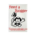 Feed a Blogger Rectangle Magnet