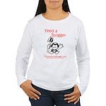 Feed a Blogger Women's Long Sleeve T-Shirt