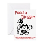 Feed a Blogger Greeting Card