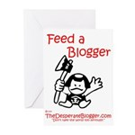 Feed a Blogger Greeting Cards (Pk of 20)