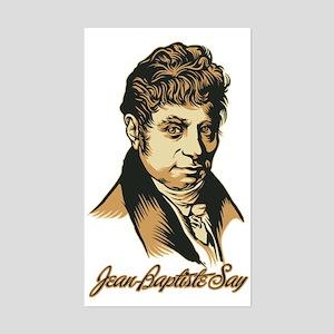 Jean-Baptiste Say Rectangle Sticker