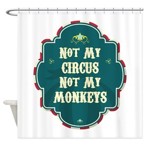 Circus Animal Shower Curtains