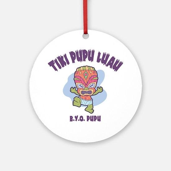 Tiki Pupu Luau Ornament (Round)