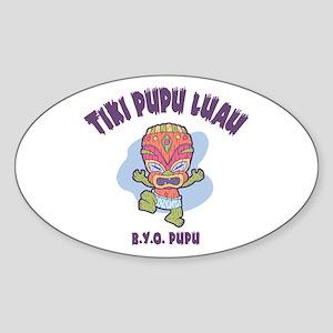 Tiki Pupu Luau Oval Sticker