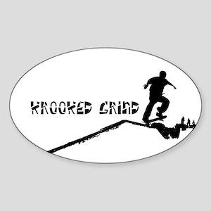 krookeds Oval Sticker