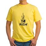 Buddha (Black) Yellow T-Shirt
