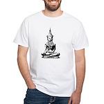 Buddha (Black) White T-Shirt