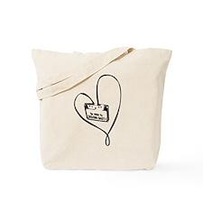 I Love Music (Black) Tote Bag