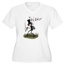 The Mad Hatter Women's Plus Size V-Neck T-Shirt