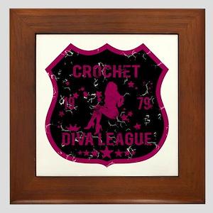 Crochet Diva League Framed Tile