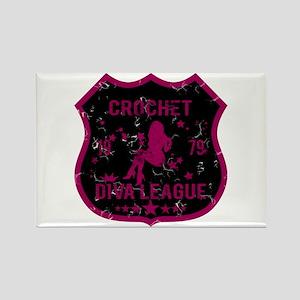 Crochet Diva League Rectangle Magnet