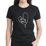 I Love Music (White) Women's Dark T-Shirt