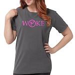 Flat Earth Woke Womens T-Shirt (pink)