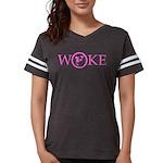 Flat Earth Woke Womens Football Shirt (p) T-Shirt