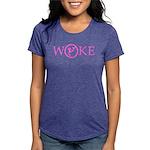 Flat Earth Woke Womens Tri-Blend T-Shirt (p)