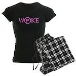 Womens Dark Pajamas (pink)