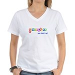 gluten-free, yep that's me! Women's V-Neck T-Shirt