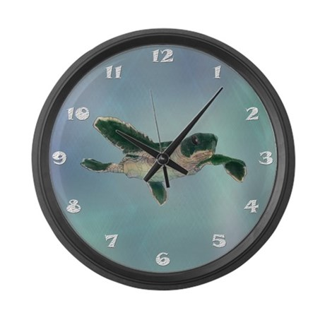 Baby Sea Turtle Large Wall Clock