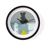 Black Miniature Schnauzer Wall Clock