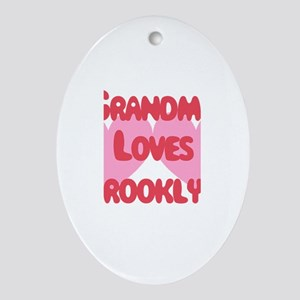 Grandma Loves Brooklyn Oval Ornament
