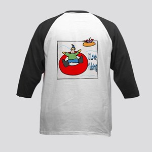 I Love Tubing Kids Baseball Jersey