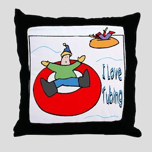 I Love Tubing Throw Pillow