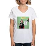 Dracula Spokesperson Women's V-Neck T-Shirt